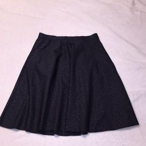 Lululemon Black Embossed Good To Go A-Line Skirt 4